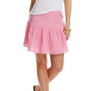 NWT Vineyard Vines Pink Linen Mini Skirt SZ 0
